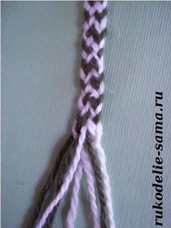 Плетение пояса косое плетение