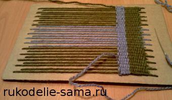 Плетение на картонной основе