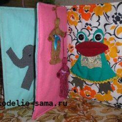 Детская декоративная подушка своими руками