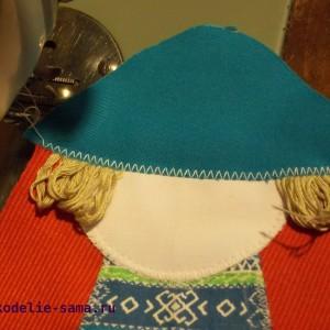 Пришивание шапочки