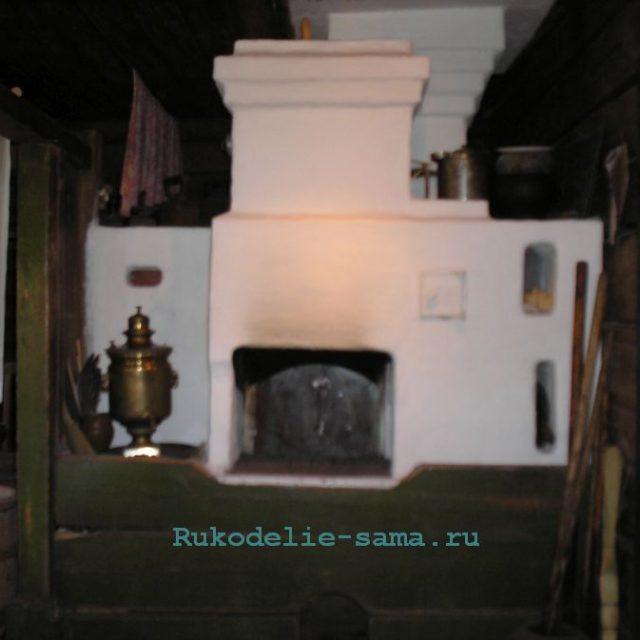 Русская печь в деревне