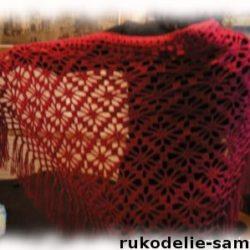 Вязание крючком шали филейным вязанием