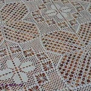 Филейное вязание фрагмент покрывала