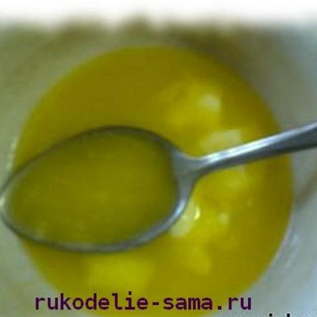 Растопленное масло для печенья