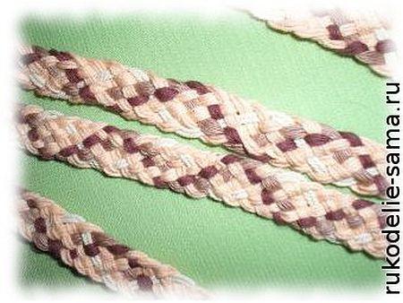 Плетение пояса из ниток