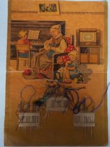 старая упаковка-игольница