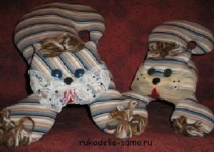 декоративные подушки-игрушки коты