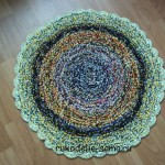 коврик круглый из ниток