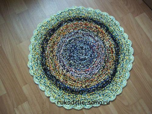 Вяжем своими руками коврик