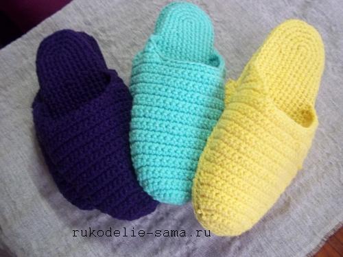 Вязание тапочки своими руками