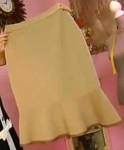 юбка карандаш с воланом