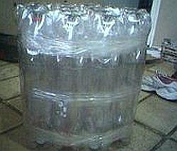 заготовка для пуфика из пластиковых бутылок