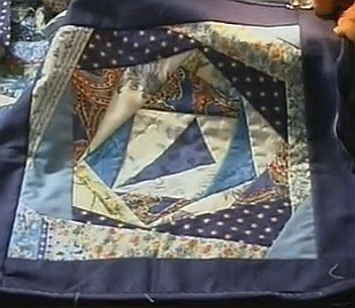 навлочка на подушку из лоскутков
