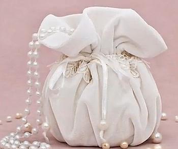 свадебная сумочка с жемчугом