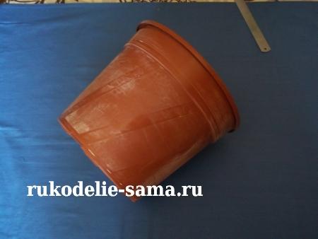пластмассовый горшок для декорирования