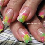 цветочный френч акрил