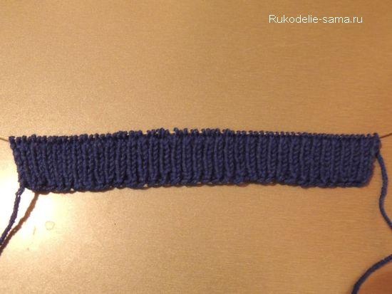 Резинка- начало вязания