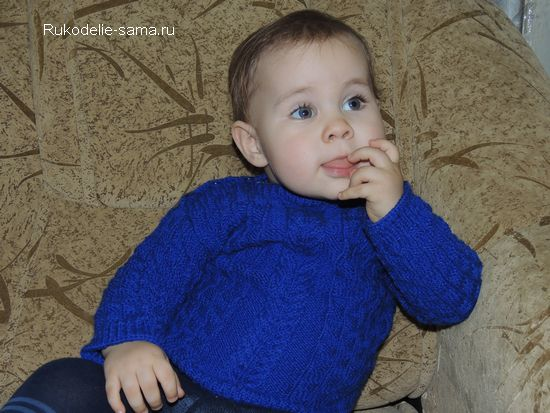 Детский вязаный пуловер