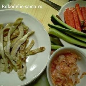 Ингредиенты начинки для суши