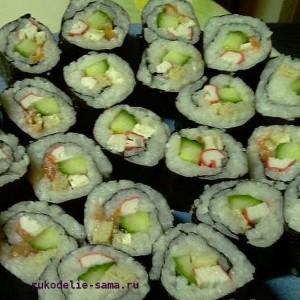 Суши приготовленные в домашних условиях