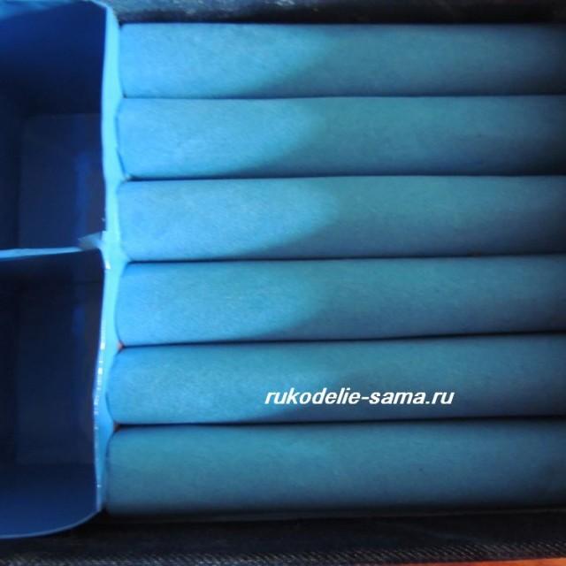 Валики, покрытые бархатной бумагой