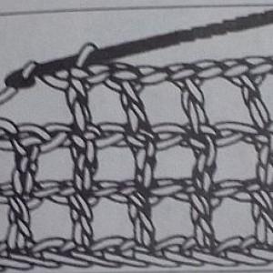 Филейная сетка с одной воздушной петлей