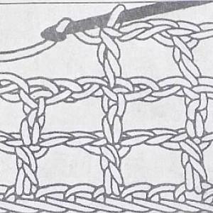 Филейная сетка с двумя воздушными петлями