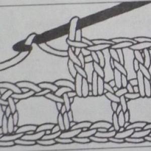 Филейный узор заполненная клетка