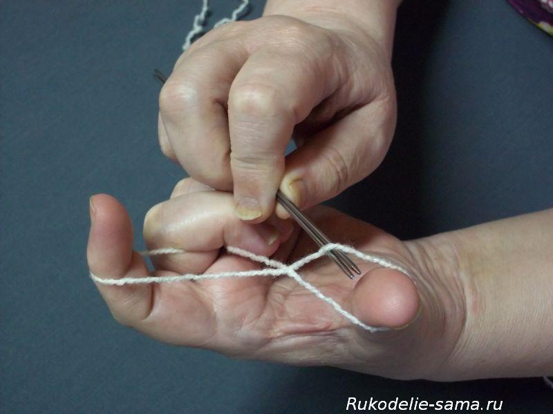 Вязание варежек узором1