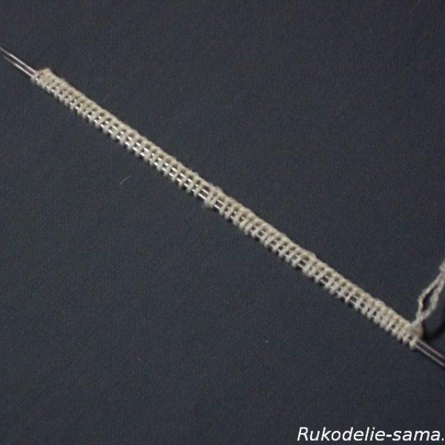 Вязание варежек узором-011