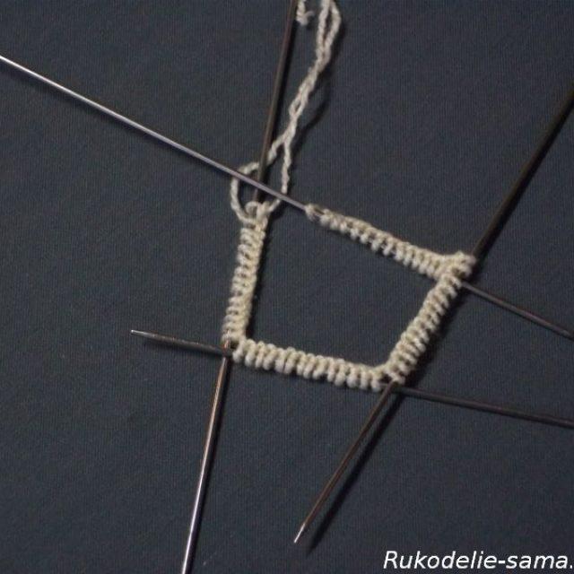 Вязание варежек узором-012