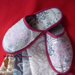Женская домашняя обувь, шьём тапочки