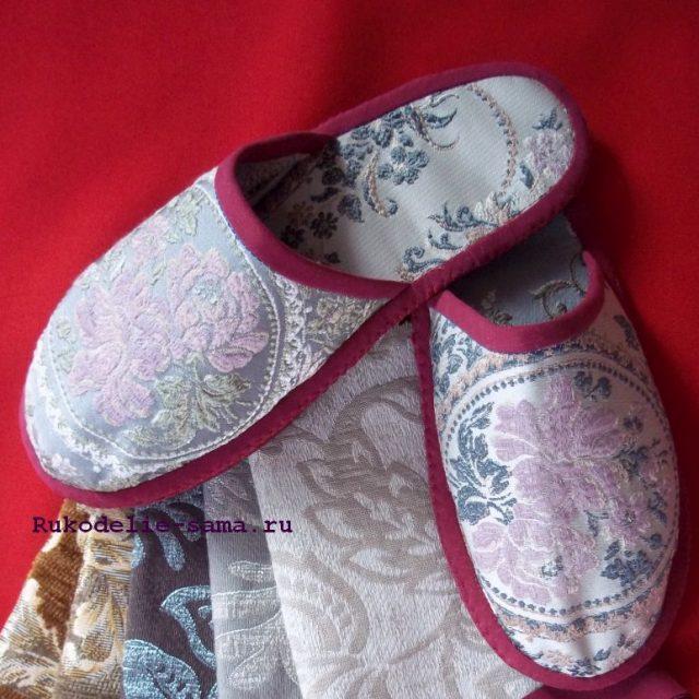 Домашняя обувь шьём тапочки своими руками