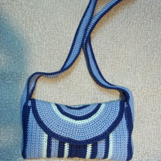 Летняя сумка с длинной ручкой фото 5