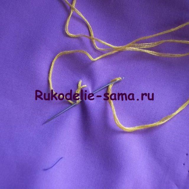 Вышивка петельный шов фото 9