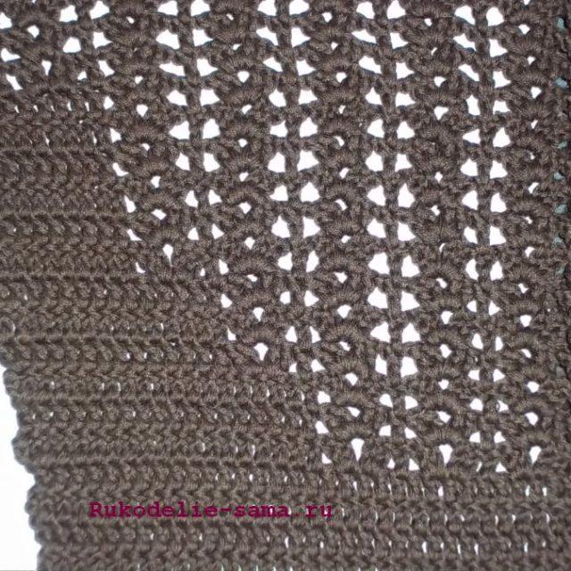Вязание рисунка по пройме жилета