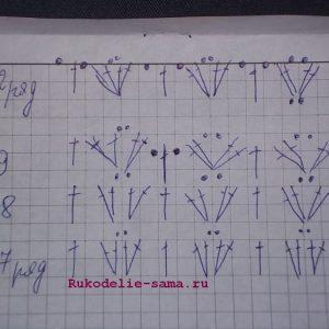 Схема рисунка для вязания жилета