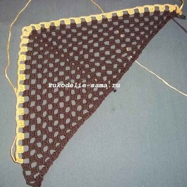 начало вязания шали крючком