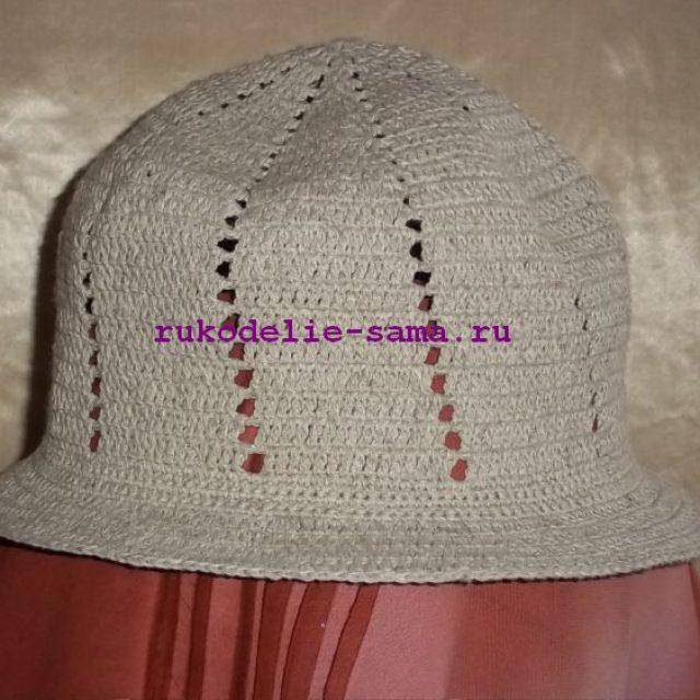 шляпка крючком-20