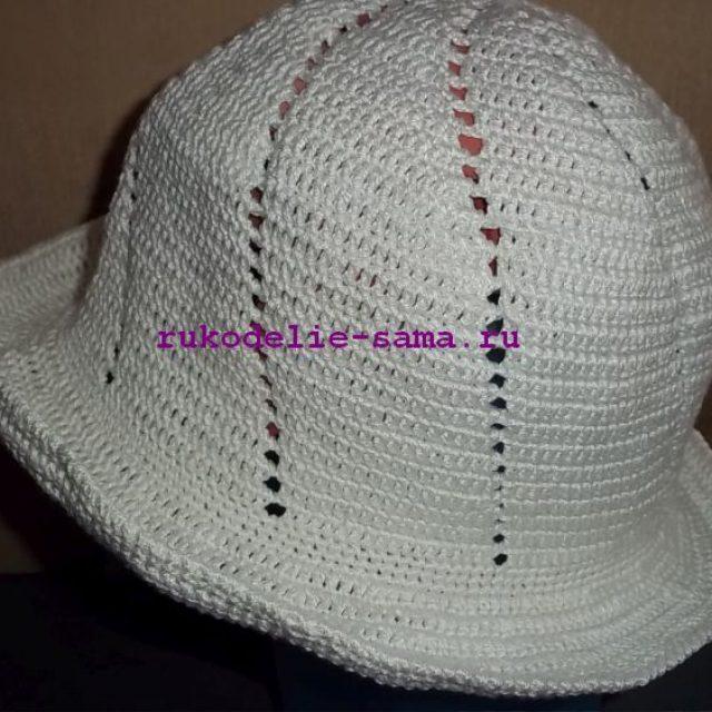 шляпка крючком-21