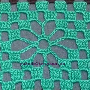 узор филейное вязание