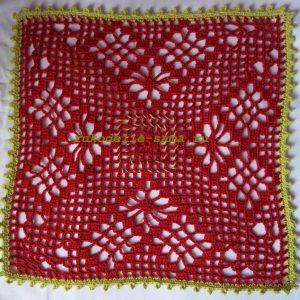 Филейное вязание, квадрат