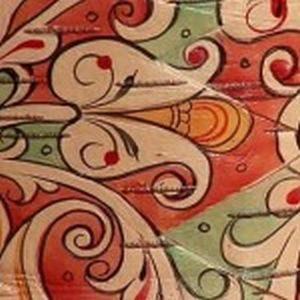 фрагмент росписи на бересте