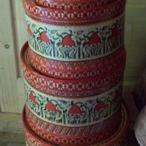 коробки из бересты с росписью