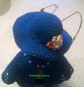 шляпка игольница у куклы-помощницы