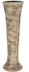 высокая ваза для цветов коричневая