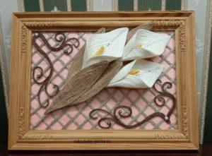 декоративное панно из джута