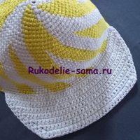 Вязанная крючком кепка: модный, летний, головной убор