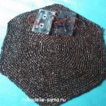 Вязание ковриков крючком из магнитофонной плёнки