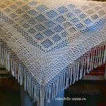 Вязание шалей крючком со схемами